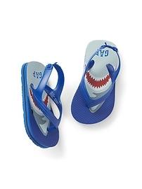 Sandales à imprimé de requins