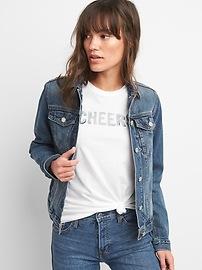Short Sleeve Sparkle Graphic Crewneck T-Shirt