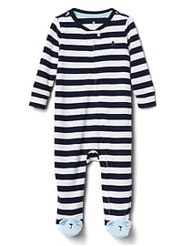 Favorite Stripe Footed Zip One-Piece