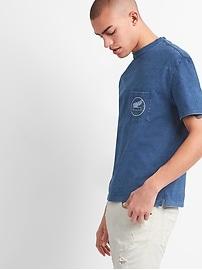 Indigo Logo Short Sleeve Crewneck T-Shirt