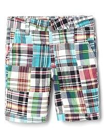 Plaid Patchwork Shorts