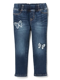 Superdenim Butterfly Patch Favorite Jeggings with Fantastiflex