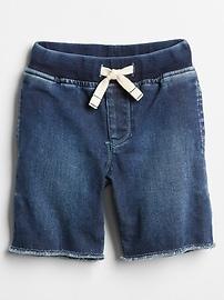 "4.5"" Pull-On Denim Shorts"