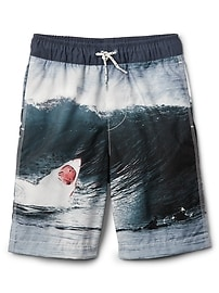 """8"""" Shark Swim Trunks"""