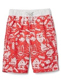 Shorts de bain Collection baignade à motifs de monstres (20cm)
