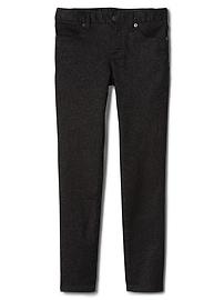 High stretch black shimmer super skinny jeans