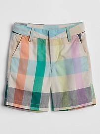 Plaid Twill Shorts