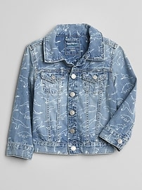 Dino Print Denim Jacket