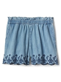 Embroidery Culotte Shorts