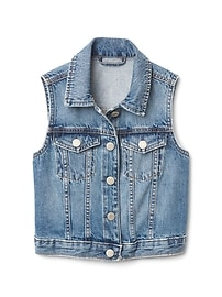 Veste sans manches en denim