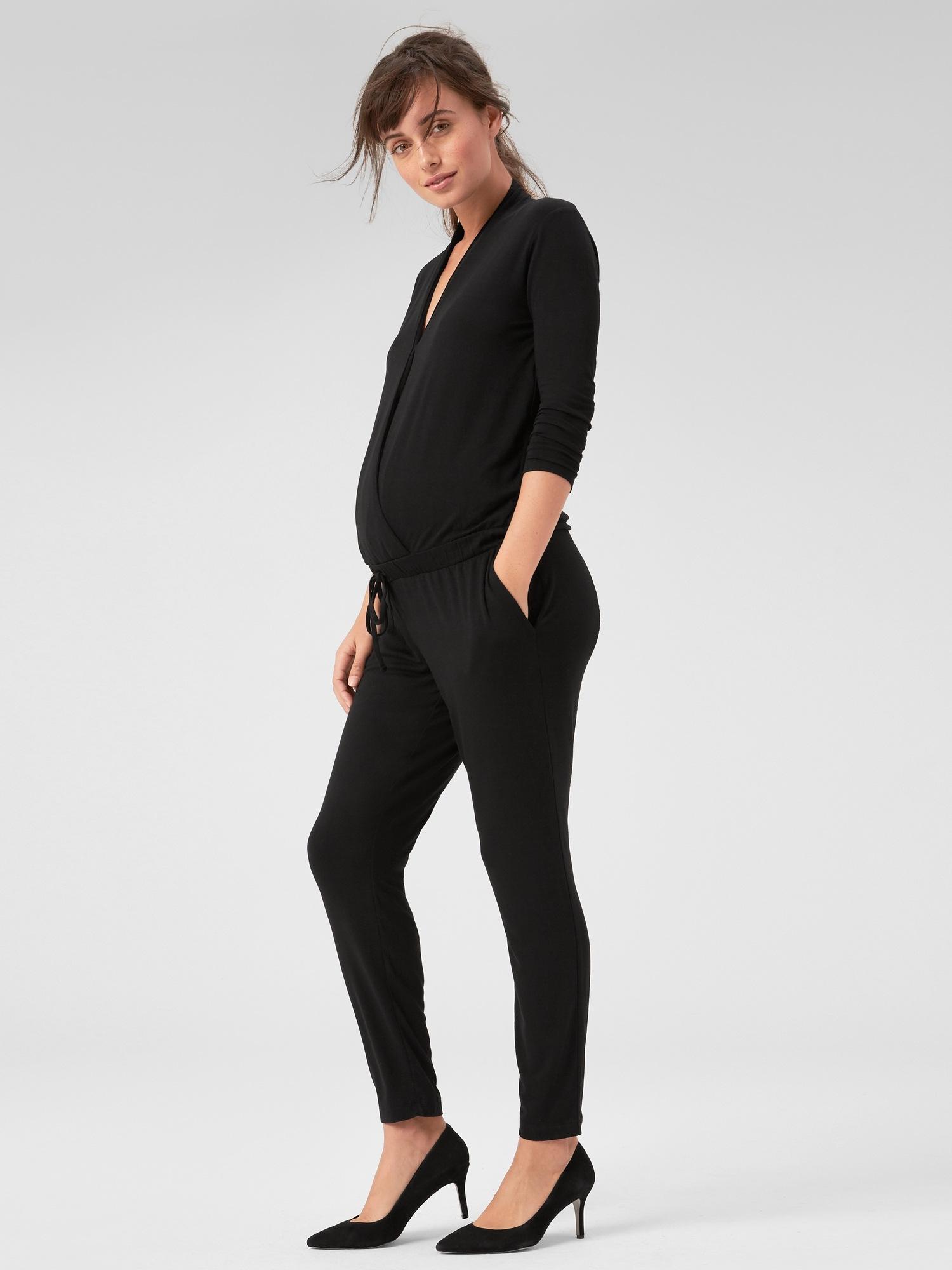 e2c8bd092da0 Maternity Long Sleeve Wrap Jumpsuit