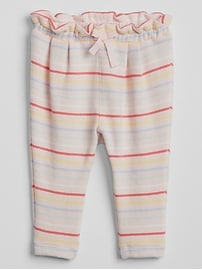 Stripe Pull-On Pants in French Terry