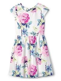 Floral Twist-Back Dress