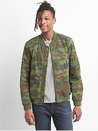 Wearlight Camo Bomber Jacket in Canvas