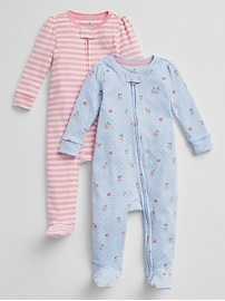 Cuddle & Play Footed One-Piece (2-Pack)