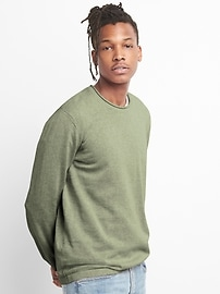 Pullover Crewneck Sweater in Linen