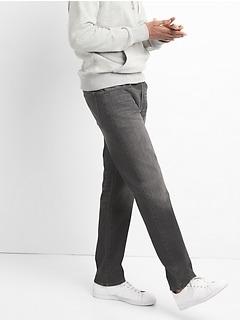 Jean Washwell noir avec GapFlex, coupe droite