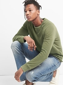 Pullover Crewneck Sweatshirt in French Terry