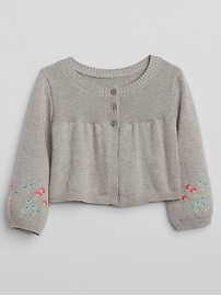 Embroidery Cardigan Sweater