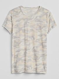 Camo Print Vintage Crewneck T-Shirt