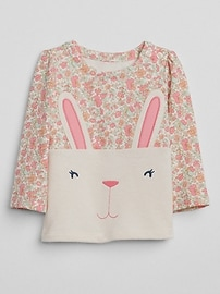 Graphic bunny top