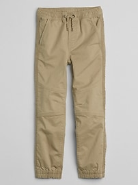 Seamed Joggers in Twill