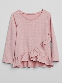 Dot Ruffle Sweater in French Terry