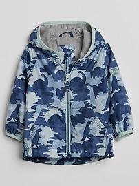Coupe-vent doublé en jersey à imprimé camouflage