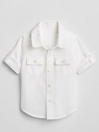Convertible Shirt in Linen