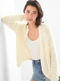 Open-Front Cocoon Cardigan Sweater