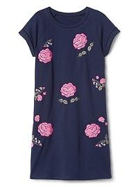 Robe style t-shirt à fleurs