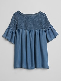 TENCEL&#153 Denim Smocked Dress