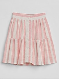 Tiered Button-Front Skirt