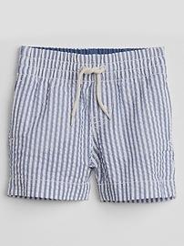 Short à enfiler en tissu gaufré (8cm)