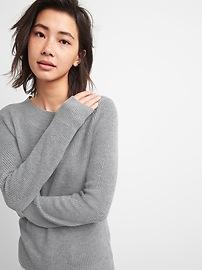 Wide Boatneck Pullover Sweater in Merino Wool-Blend