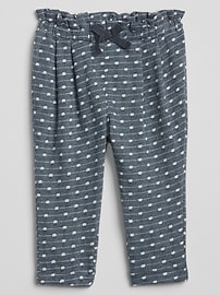 Dot Pull-On Pants in French Terry