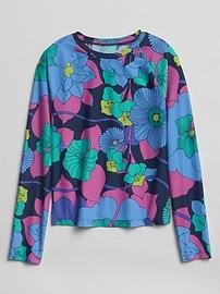Maillot anti-UV à motif floral