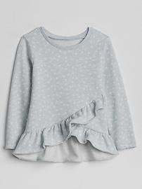Cascade Ruffle Pullover Sweatshirt
