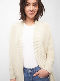 Open-Front Cardigan in Textured Knit