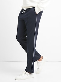 Pintuck Stripe Joggers in Tricot