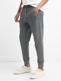 Twill Knit Zip Joggers