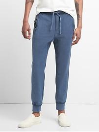 Pantalon d'entraînement en tricot de sergé à glissière