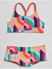 Braid-Back Swim Two-Piece