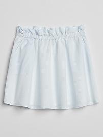 Stripe Paperbag Waist Skirt