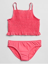 Smocked Swim Two-Piece
