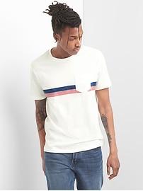 Essential Stripe Short Sleeve Pocket T-Shirt