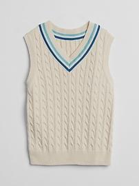 Veste à col en V en tricot torsadé