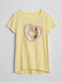 Sequin Graphic Hi-Lo T-Shirt