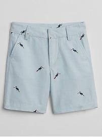 "5"" Print Oxford Shorts"