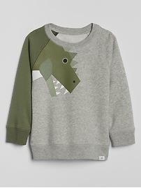 Dino Graphic Pullover Sweatshirt